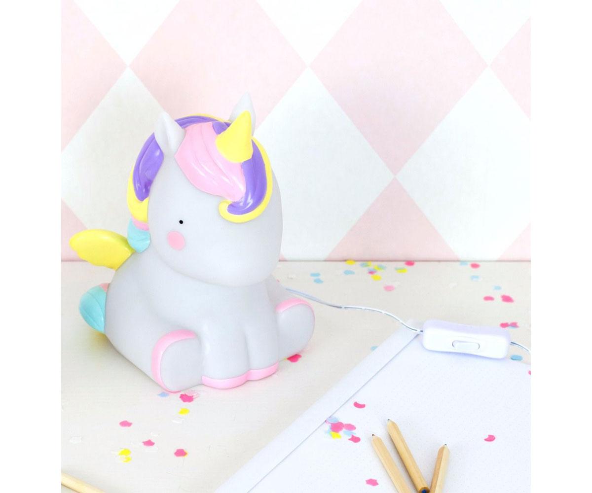 luce da tavolo unicorno