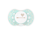 1 Personalisable LOVI Green Heart Soother