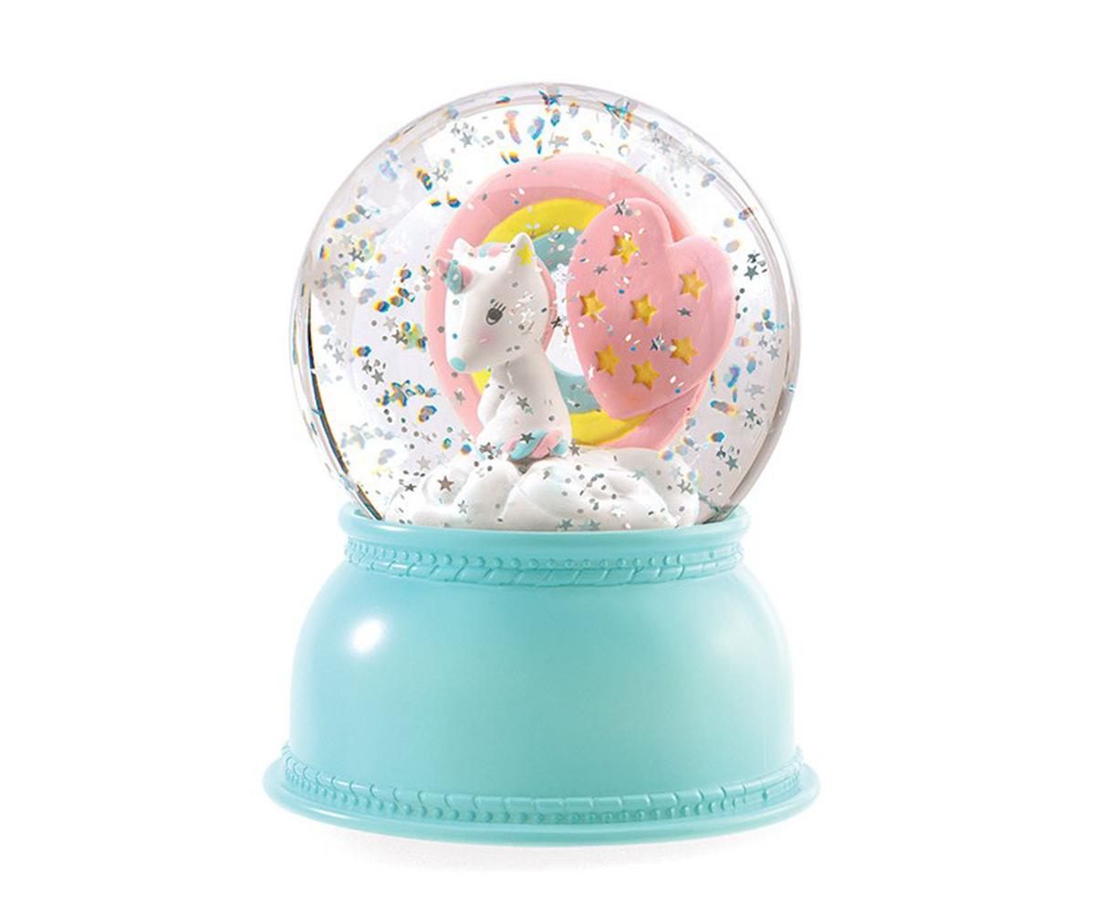 Palla Di Neve Lampada Unicorno Djeco Tutete