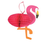 Colgante Panal Decorativo Flamingo