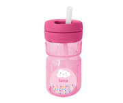 Botella Personalizable Top con Pajita Rosa 360ml