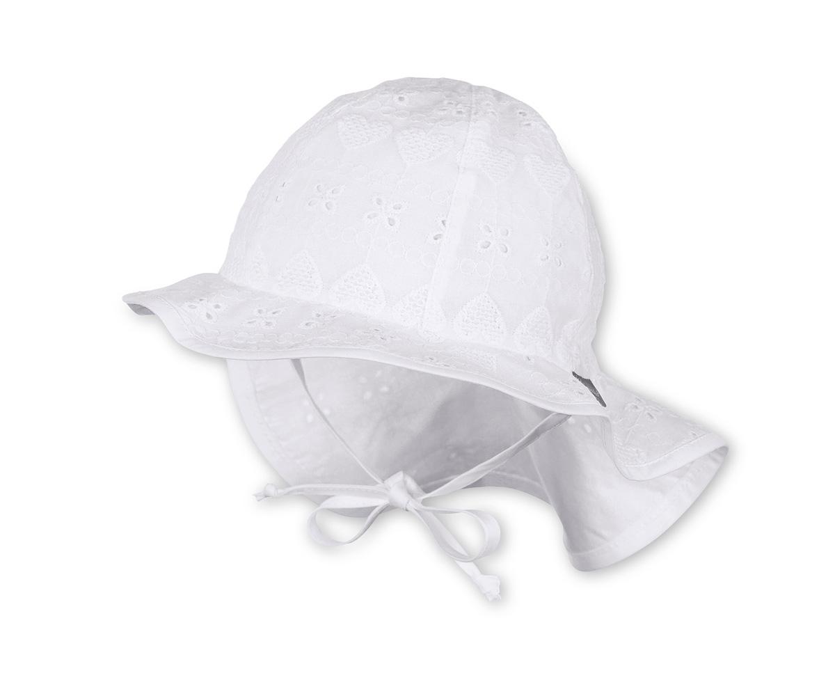 Cappellino Pescatore + Cervicale Bianco Ricamato 5-12m a4e64062ed5f