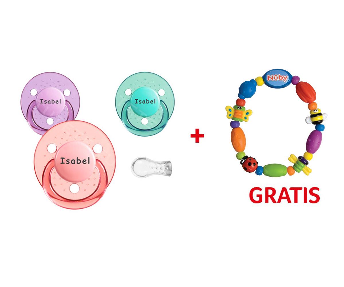 Promozione Nûby: Succhietti Cherry+0 Personalizzati + Dentarello Gratis
