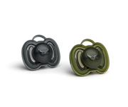 2 Chupetes Herobility Negro-Verde 0-6m