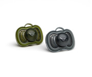 2 Chupetes Herobility Negro-Verde +6m