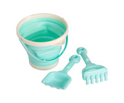 Set Cubo Plegable y Pala Menta