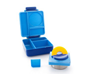 Lunch Box con Thermos Azzurro