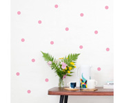 Vinilo Pared Puntos Rosa Blush