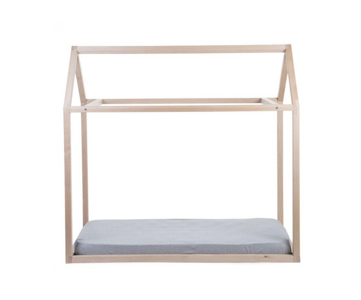 Estructura cama casita 90cm x 200cm cm natural - Estructura cama ...