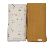 Pack 2 Mussoline Swaddle Pinecones