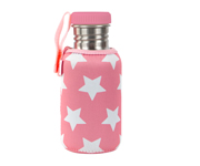 Botella Acero con Funda Estrellas Rosa Chicle Personalizable 500ml