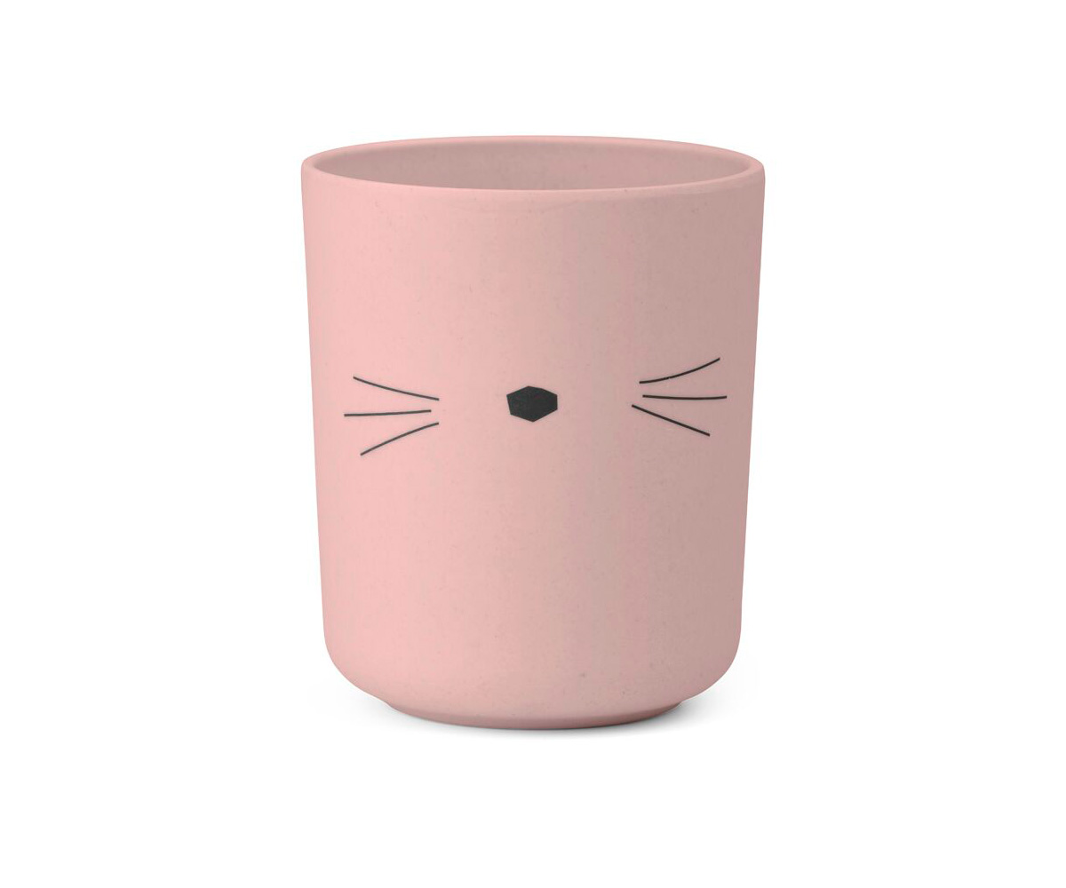 Set vajilla bamb gato rosa tutete - Vajilla bambu ...