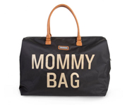 Borsone Mommy Bag Black-Gold