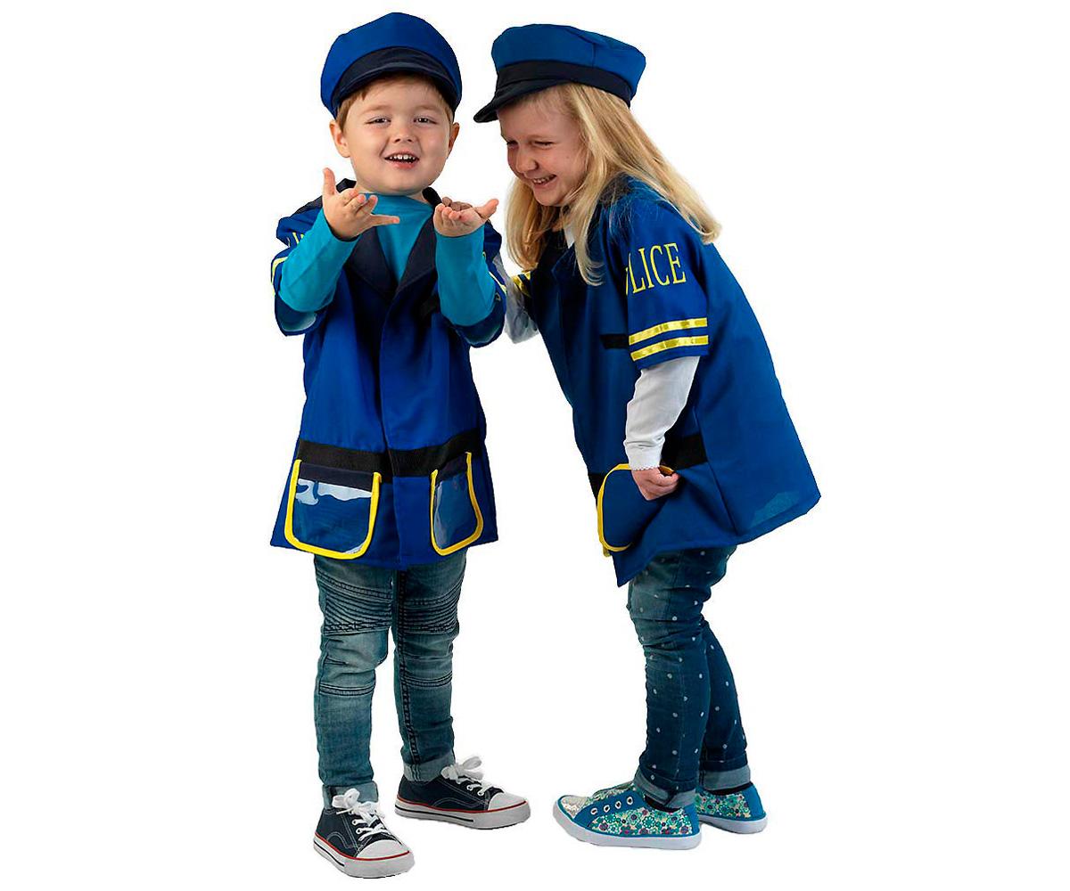Disfraz Chaqueta y Gorra Policía - Tutete 298e3e5476f