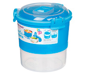 Contenedor Alimentos Lunch Stack To Go Azul 965ml