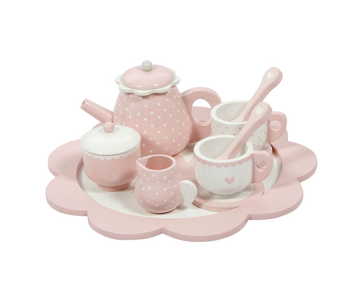Tazze Da Te Personalizzate set da tè legno rosa - tutete