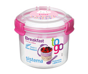 Contenedor Alimentos Breakfast To Go Personalizable Rosa 530ml