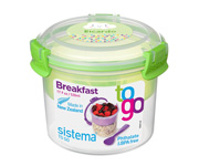 Contenedor Alimentos Breakfast To Go Personalizable Verde 530ml
