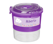 Contenedor Alimentos Personalizable Lunch Stack To Go Lila 965ml