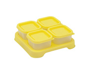 Set 4 Recipientes de Comida para Bebés Amarillo 60ml