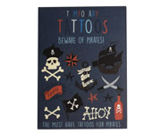 Tatuajes Temporales Bewares of the Pirates