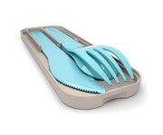 Cubiertos Pocket Biodegradables Azul Iceberg