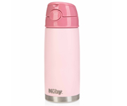 Thermos Acciao Inox con Cannuccia Rosa 420ml
