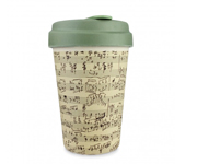 Vaso Bambú con Tapa Music Notes