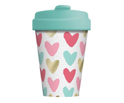 Vaso Bambú con Tapa Happy Hearts