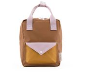 Mochila Sticky Lemon Envelope Sugar Brown Pequeña Personalizable