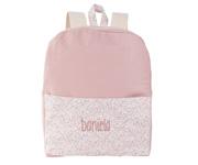 Mochilas de preescolar plastificada rosa y gris Infantile