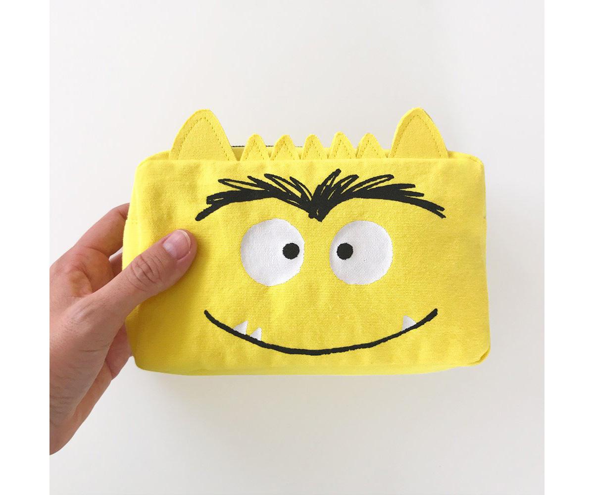 Estuche El Monstruo De Colores Amarillo Personalizable Tutete