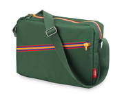 Bolsa Bandolera Engel Zipper Green Personalizable