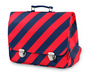 Cartera Engel Stripe Navy Grande
