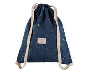 Mochila Saco Too Cool Gold Stella/Night Blue Personalizable