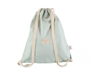 Mochila Saco Bubble White-Aqua Personalizable