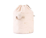 Cesta Piccola Bamboo Toy Bag Gold Stella-Dream Pink