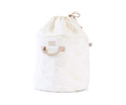 Cesta Piccola Bamboo Toy Bag Gold Bubble-White