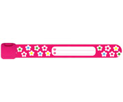 Infoband™  Pink Flowers ID Wristband