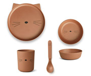 Vajilla Bambú Box Cat Terracota