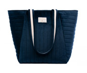 Bolsa Maternidad Terciopelo Savanna Night Blue
