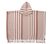 Poncho Roomie Stripes Dark Rose