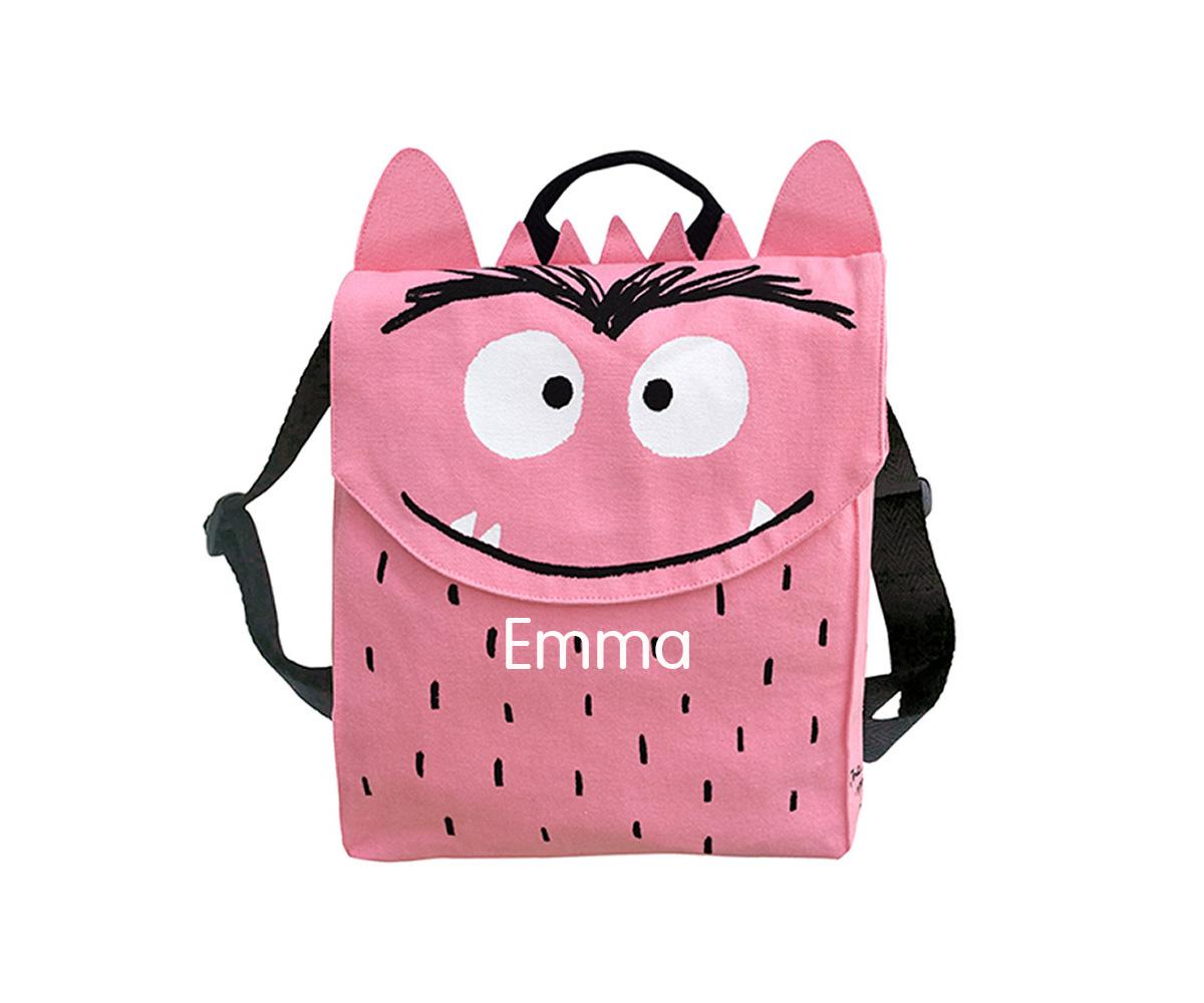 Mochila Infantil El Monstruo de Colores Rosa Personalizable