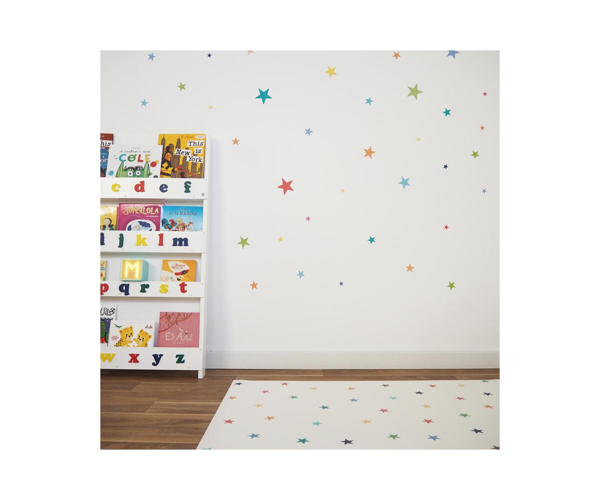 Alfombra Vinílica Stars Multicolour Minimoi