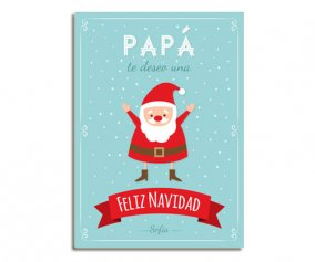 Personalised Laminate Santa Happy Christmas Daddy