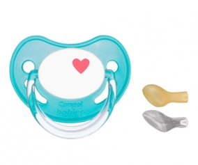 1 Personalisable Canpol Turquoise Heart Soother