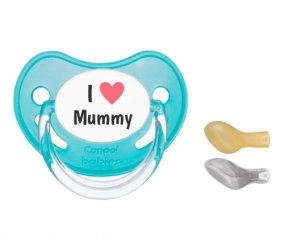 Succhietto Canpol I Heart Mummy Turquoise