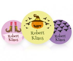 Pack of 3 Personalisable Halloween Badges