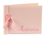 Pink Stripes Custom Baby Album AL 003.1