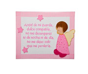 Pink Little Angel Name Board